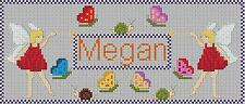 FAIRY NAME PLAQUE (PERSONALISED) - CROSS STITCH CHART