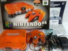 Nintendo 64 Clear Orange Black Limited edition Console,Pad,PSU,Manual, Boxed-T-