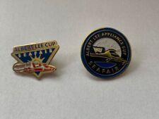 2 Albert Lee Appliance Cup Seattle Seafair Hydroplane Button Hat Pins Hydro