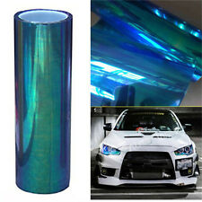 1pc Chameleon Blue/Clear/Yellow Car SUV Headlight Taillight Vinyl Tint Film Wrap