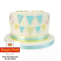 Set of 3 Easy Bunting Cutters Cake Decorating Icing Fondant Sugarcraft 1st Class
