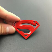 3D Red Chrome Metal Superman Logo Badge Emblem Sticker Decal  Auto Trunk Tank