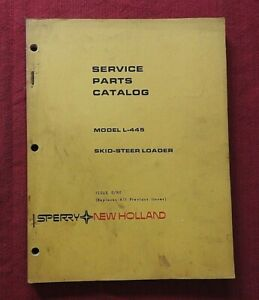 ORIGINAL NEW HOLLAND L-445 SKID STEER LOADER TRACTOR PARTS MANUAL