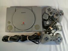 Original SONY Playstation 1 PS1 with 2 controllers, SCPH-5501 Tested/Works Well