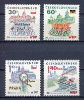 33263) Czechoslovakia 1977 MNH Bicycle Peace Race 4v