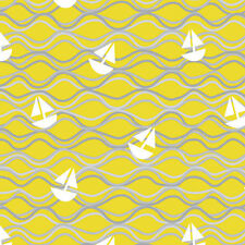 Maritime Modern Come About Citron by Marin Sutton for Riley Blake, 1/2 yd fabric