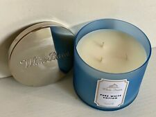 NEW! BATH & BODY WORKS WHITE BARN 3-WICK SCENTED CANDLE - PURE WHITE COTTON