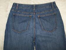 Womens Talbots Petites Bootcut Blue Denim Jeans 12P  Distressing Blemish EUC