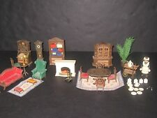 Playmobil Victorian Dollhouse Living & Dining Room Furniture Toy Lot