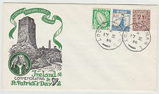 "IRELAND, 1956 ""Staehle"" Castle Series St. Pat's Day Cover - Ferricarrig Castle"