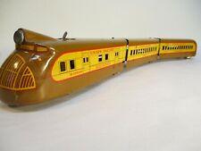 Marx M 10000 Union Pacific Streamliner Yellow Brown Prewar O Ga X4557
