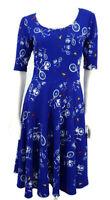 LuLaRoe Nicole Bicycle Print Dress Womens Small Blue
