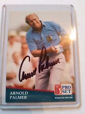 Arnold Palmer In Person Auto on 1991 PGA Pro Set JSA COA S78578