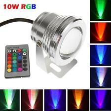 16 Color Waterproof 10W RGB LED Outdoor Changing Flood Spot light Garden Lamp UK