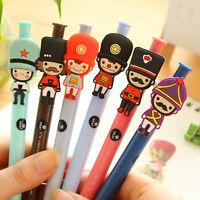 6Pcs Cute Cartoon soldier Roller ball Pen funny School Stationery Office Supply