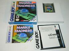 Marble Madness (Nintendo Game Boy Color GBC) CIB COMPLETE