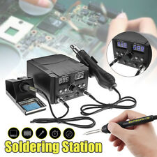 750W 2 In 1 Soldering Iron Station Rework Kit Desoldering Hot Air Heater LCD