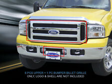 Fits 1999-2004 Ford Superduty F-250 F-350 Black Billet Grille Grill Combo