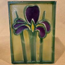 Vintage FTD Purple Iris Vase