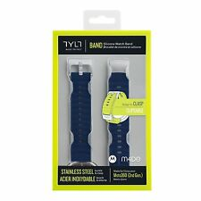 NEW Tylt Moto 360 (2nd Gen) Silicone Watch Band Men's 42mm - Blue Moto 360 2