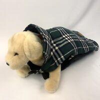 Cute Pet Quilted Flannel Dog Coat Vest Sz Large Plaid Hook And Loop Closure Coat