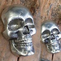 "10 Ozt MK BarZ  ""3D SKULL"" 999+ Fine Silver LIMITED ED"