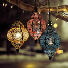 1 PC Moroccan Lamps Vintage Blue Flashy Turkish Arabian Oriental Bohemian Lights