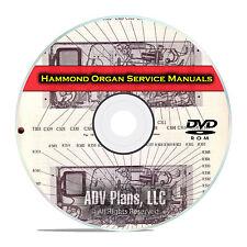Hammond Organ Service Repair Manuals, Fix up your old Hammond Organ DVD E41