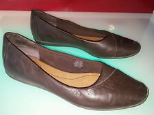 rockport dynamic suspension brown leather shoes size 10 women good condition