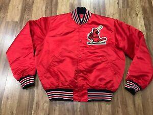 MENS LARGE Vtg 80s MLB St. Louis Cardinals Starter Sewn Quilted Snap Jacket USA