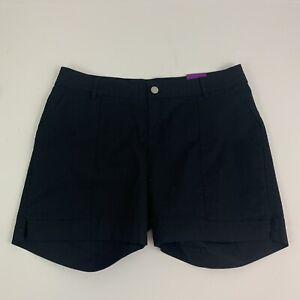 """Lane Bryant Women's 16 Short Black Chino Shorts 7"""" Inseam NWT"""