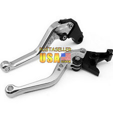 Brake and Clutch Levers For Yamaha YZF R1 1999 2000 2001 Silver CNC Short
