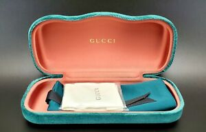 NEW GUCCI CASE GREEN VELVET CLAMSHELL EYEGLASSES WITH DUST BAG AND CLOTH