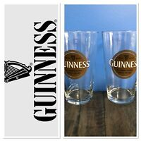 Set Of 2 GUINNESS PINT BEER GLASS St. James's Gate Dublin Ireland