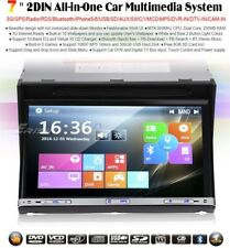 "AUTORADIO 2 DIN 7"" UNIVERSALE MP3 AUX NAVIGATORE GPS USB BLUETOOTH Dvd Sd"