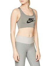 Brassières de fitness gris Nike pour femme