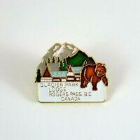 Glacier Park Lodge Rogers Pass BC CANADA Souvenir Lapel Pin Badge Brooch