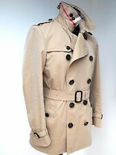 £1195 BURBERRY MENS KENSINGTON HERITAGE TRENCH COAT. 46 Uk 36 small SHORT LENGTH