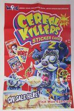 "CEREAL KILLERS 1ST SERIES CARDS MINI POSTER JOE SIMKO ART 11"" X 16"" ALA WACKY PK"
