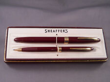 Sheaffer Vintage Burgundy Snorkel fountain pen and pencil set in box-medium