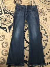 Hudson Womens Jeans Sz 27 30/30 Button Flap Signature Bootcut NAW1700HK Stretch