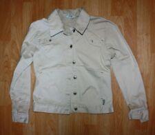 Fox Racing Brown Creme Denim Jacket Size XS