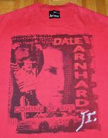 Dale Earnhardt Jr T Shirt Chase Authentics Red NASCAR Budweiser Large Vintage