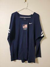 Team USA Olympic Women's Navy Nike Shirt Size XL NWT
