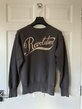 Isabel Marant Etoile Dark Grey Revolution Vintage Look Sweatshirt Top Size 36