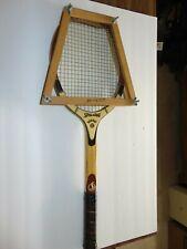 New listing VINTAGE KRO-BAT Wood Tennis Racquet Spalding & Bros. OF BELGIUM W/WOOD PRESS!!
