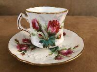 Hammersley Grandmother's Rose Tea Cup & Saucer England Bone China coffee set