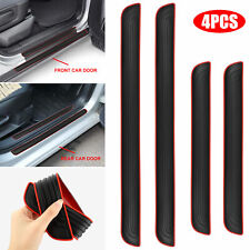 4pcs Black Rubber Universal Car Door Scuff Sill Cover Panel Step Protector Trim