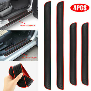 4x Rubber Universal Car Door Scuff Sill Cover Panel Step Protector Trim for GMC