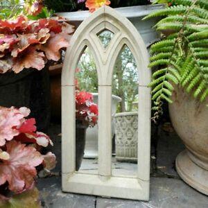 Garden Mirror Outdoor Large Arched Gothic design Stone Decorative Ornament